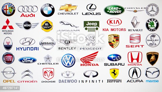 collection of car brand logos stock photo amp more pictures