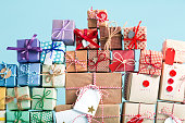 istock Collection of Christmas present boxes 875268918