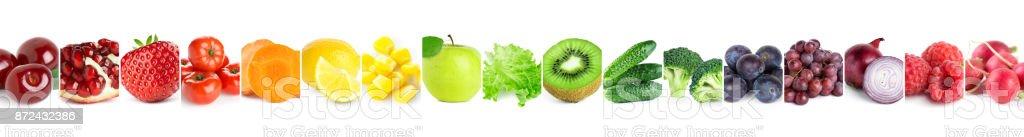 Sammlung von Farbe Obst und Gemüse – Foto