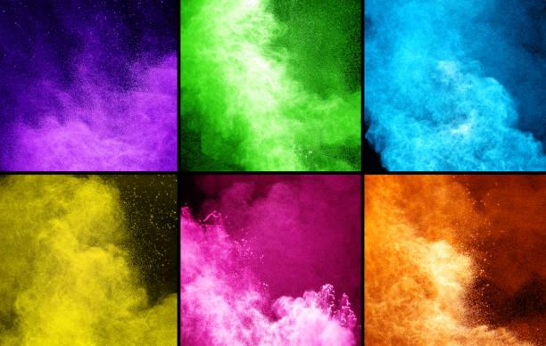 collection des explosions de poudre colorée - Photo