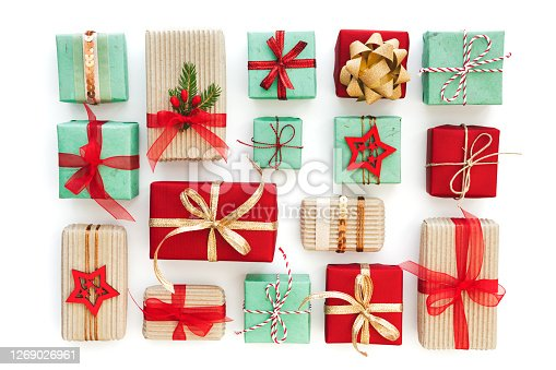 Open Gift Box on Yellow Background