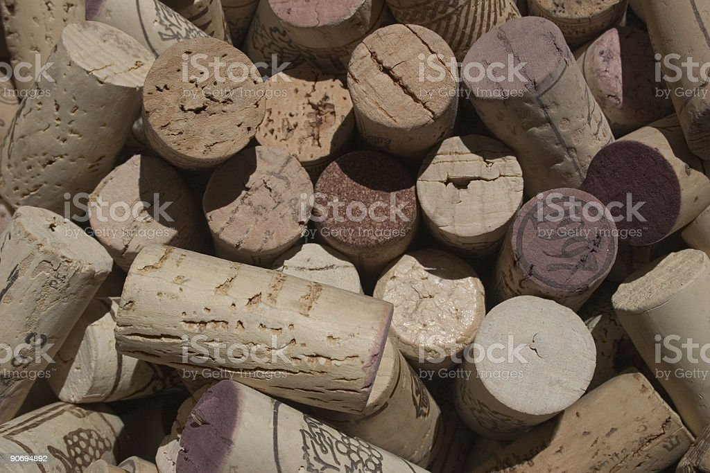 Collection of corks. royalty-free stock photo