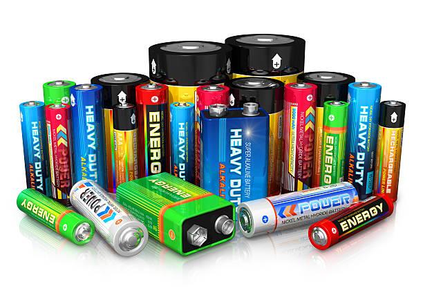 Sammlung von verschiedenen Batterien – Foto