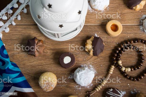 Collection of Eid El Fitr kahk and biscuits