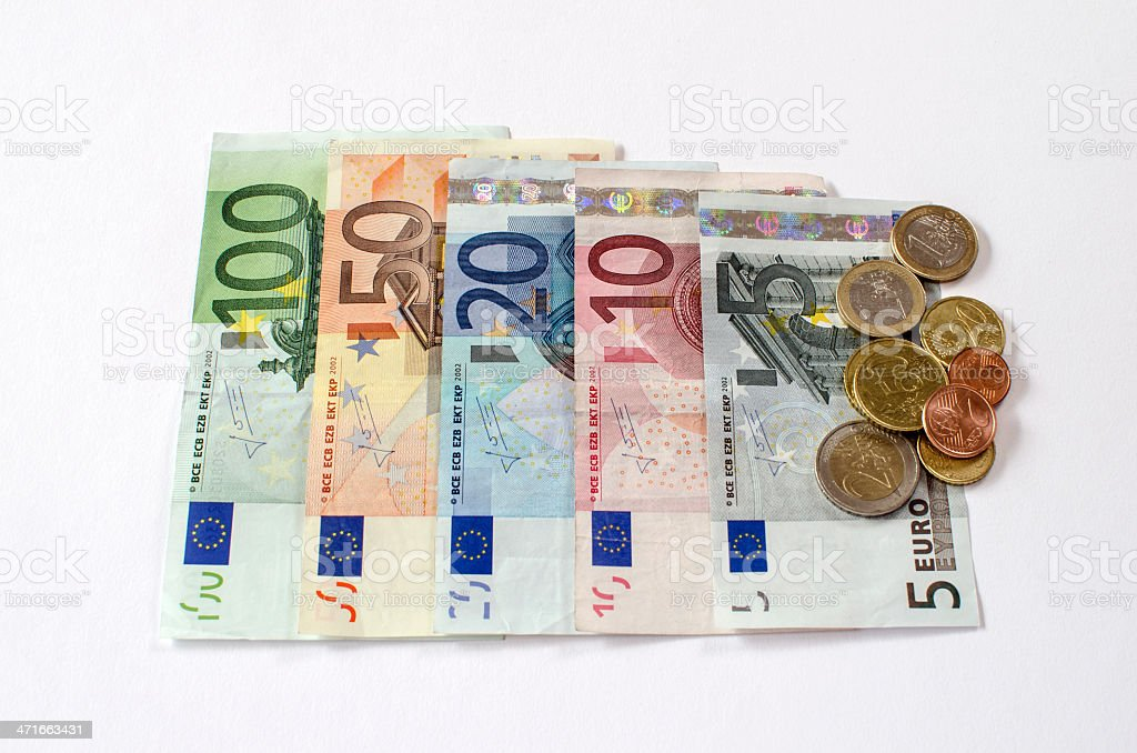 Collection of Euros royalty-free stock photo