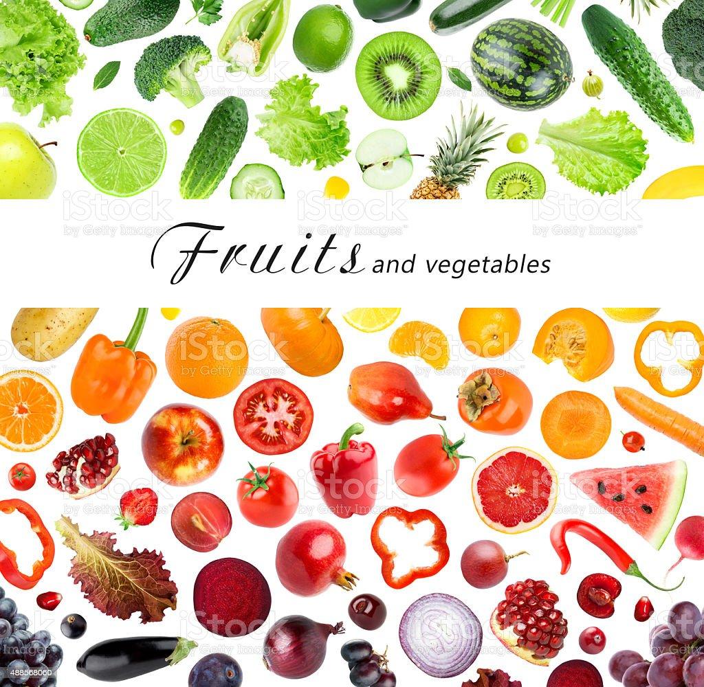 Sammlung von Obst und Gemüse – Foto