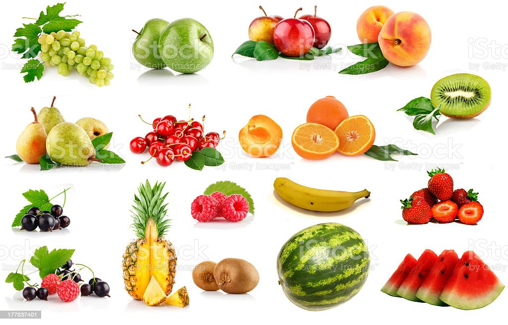 Collection of Fruits royalty-free stock photo