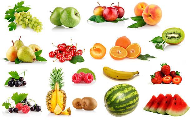 sammlung von früchten - melonenbirne stock-fotos und bilder