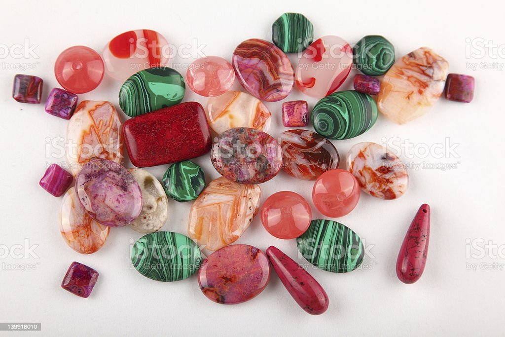 Collection of gemstones stock photo