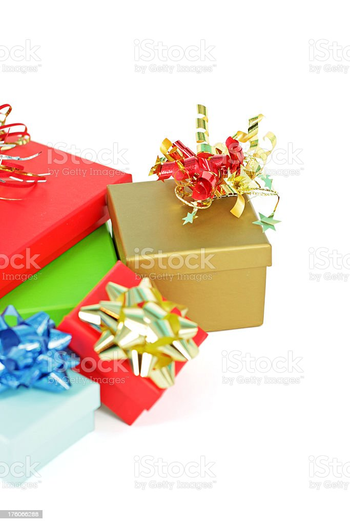 Collection of gifts royalty-free stock photo