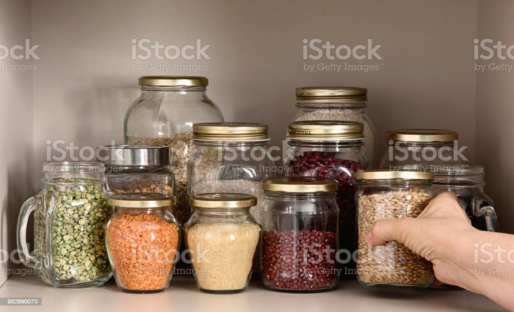 Collection of grain products stock photo