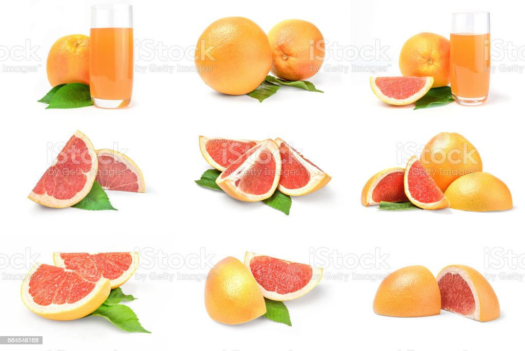 Collection of grapefruit royalty-free stock photo