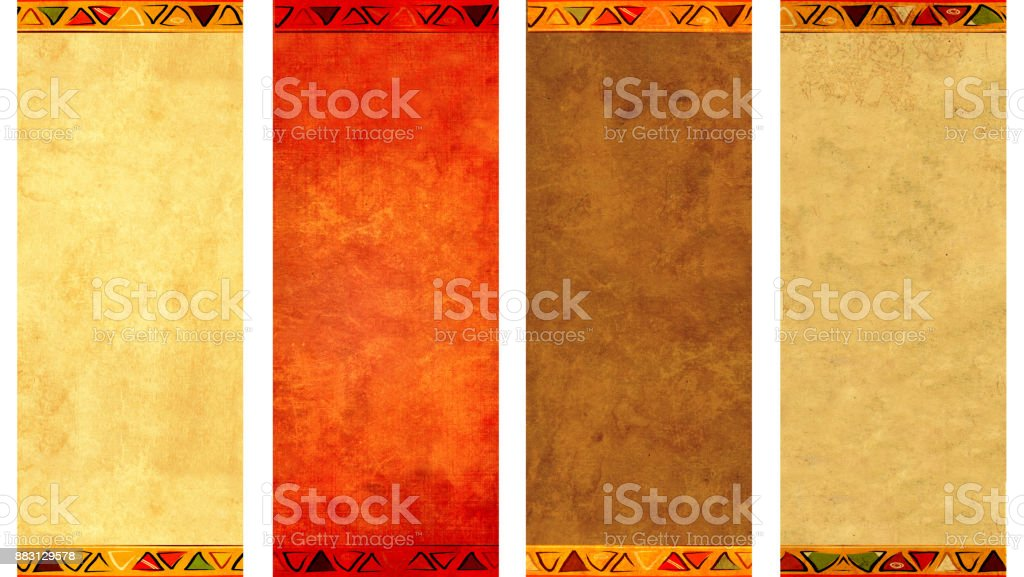 Collection of grunge vertical or horizontal banners stock photo