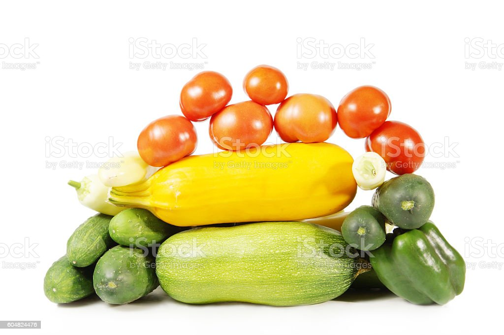Collection of healthy ripe vegetables royalty-free stock photo