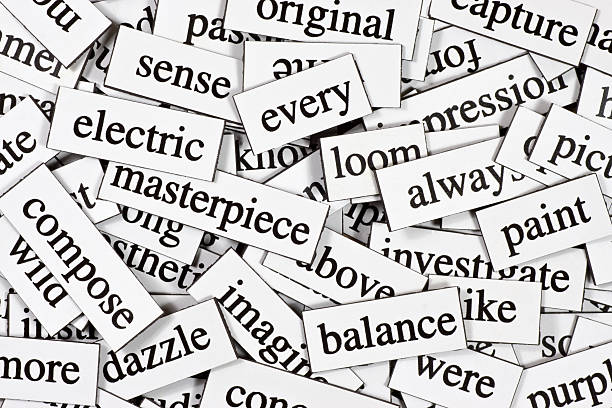 Collection of inspirational jumbled words A whole pile of jumbled up words. single word stock pictures, royalty-free photos & images