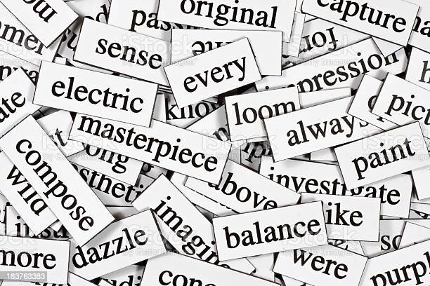 A whole pile of jumbled up words.