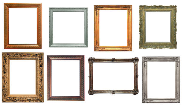 collection of isolated frames - antique stock pictures, royalty-free photos & images