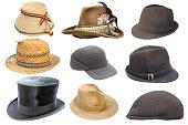 コレクションの絶縁古い帽子
