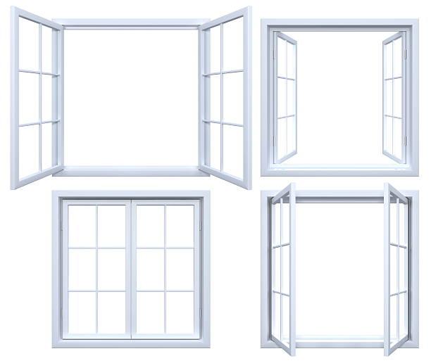 kolekcja pojedyncze ramy okienne - okno zdjęcia i obrazy z banku zdjęć