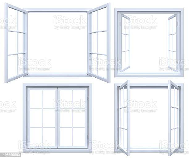 Photo of Collection of isolated window frames