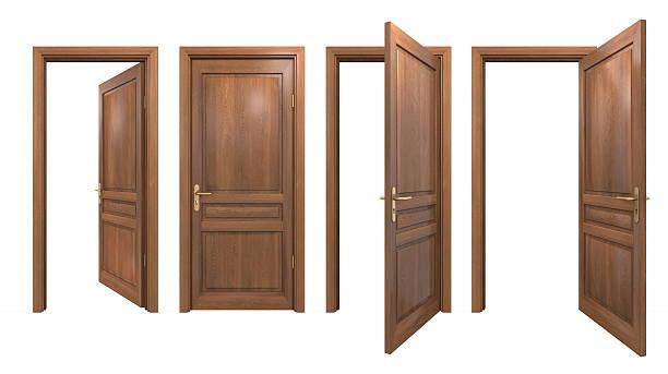 coleção de isolados de portas de madeira - isolated house, exterior imagens e fotografias de stock