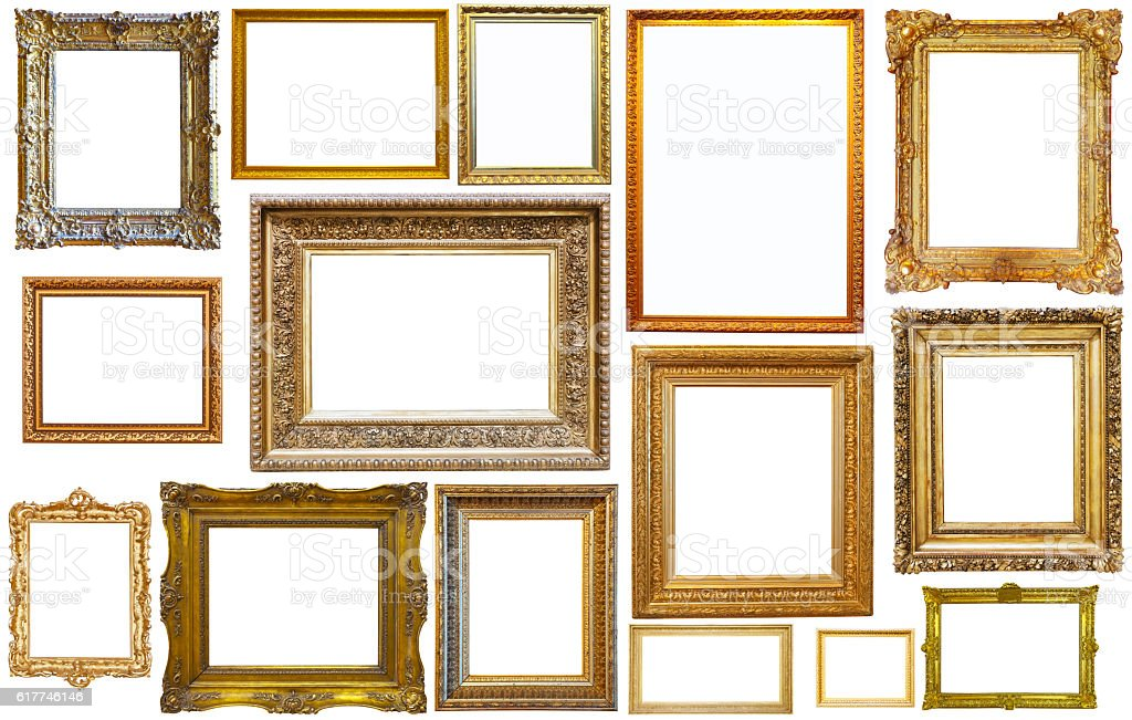 collection of isplated frames foto royalty-free