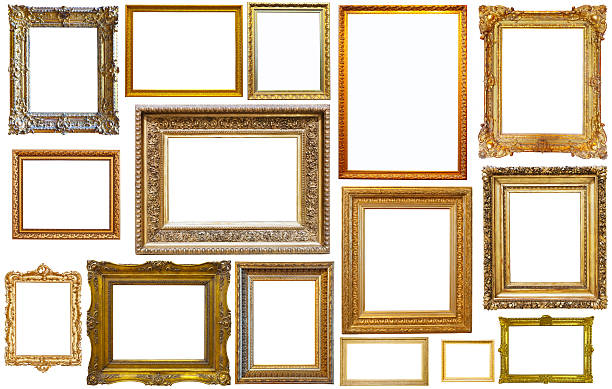collection of isplated frames - antique stock pictures, royalty-free photos & images