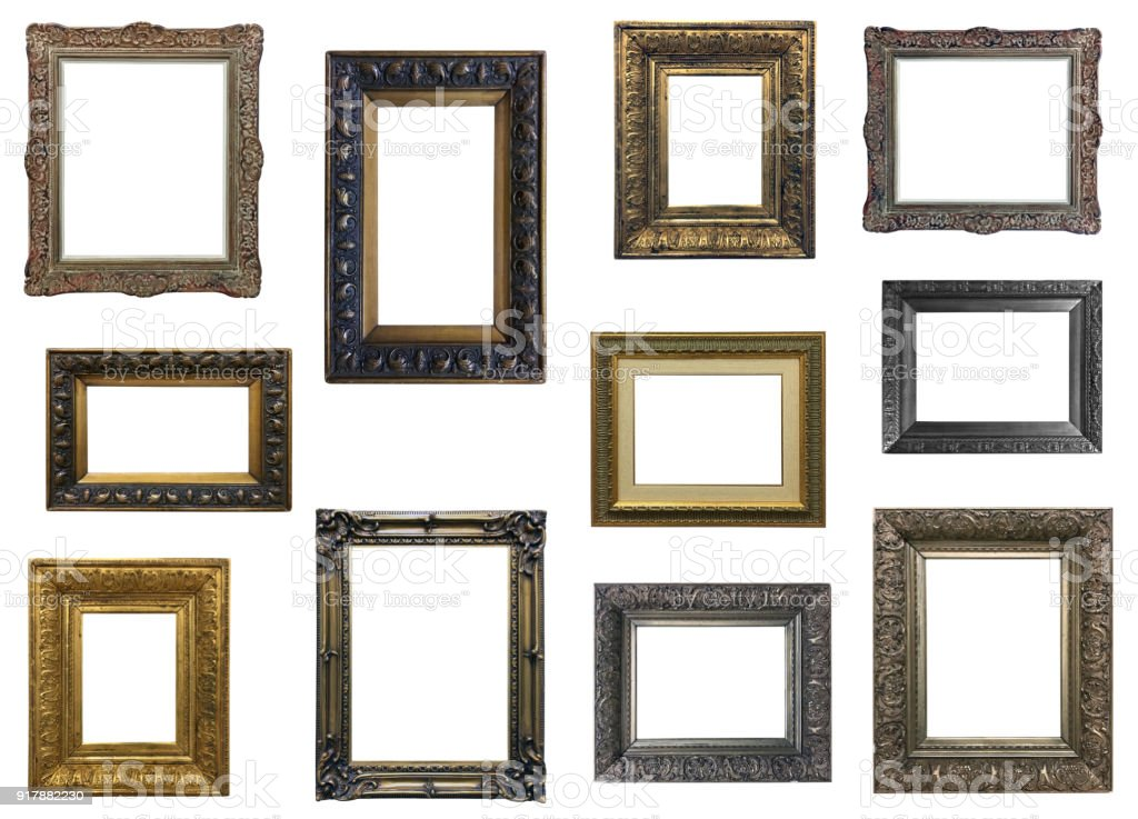 Collection of isplated frames stock photo