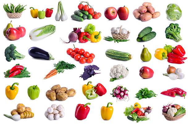 sammlung von viel gemüse - knoblauchkartoffeln stock-fotos und bilder