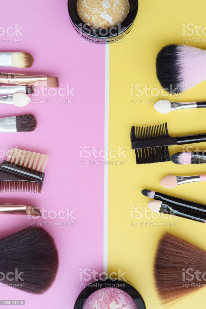 collection of make up and cosmetic beauty - Zbiór zdjęć royalty-free (Bez ludzi)