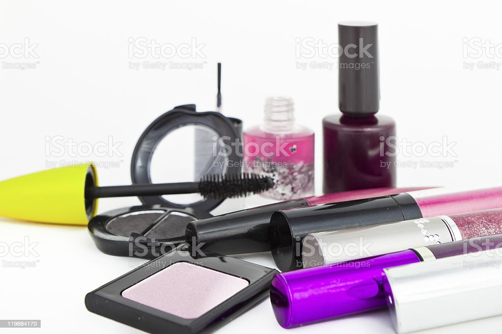collection of make-up stock photo