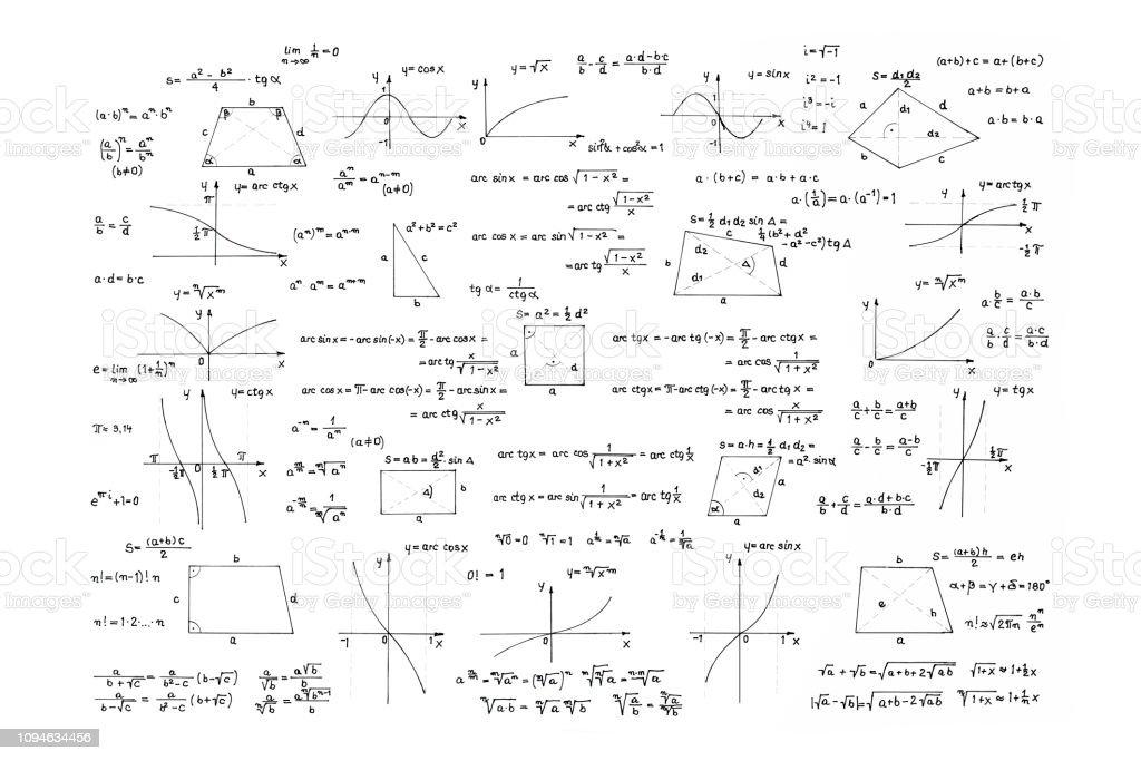 Sammlung von mathematischen Formeln – Foto