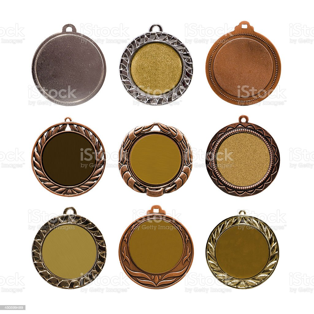 Collection of medals royalty-free stock photo