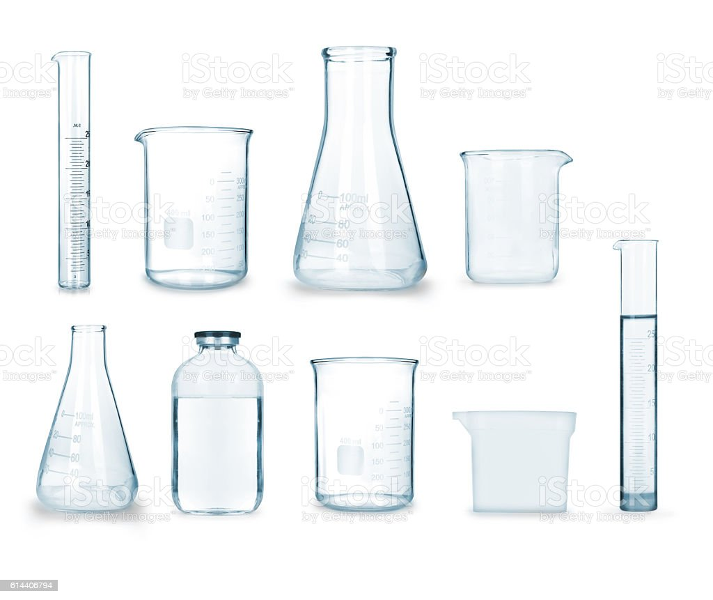 collection of medical glass stock photo