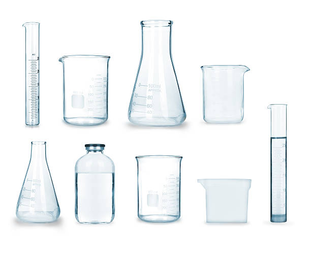 collection of medical glass 스톡 사진
