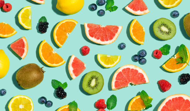 colección de frutas mixtas - fruta fotografías e imágenes de stock