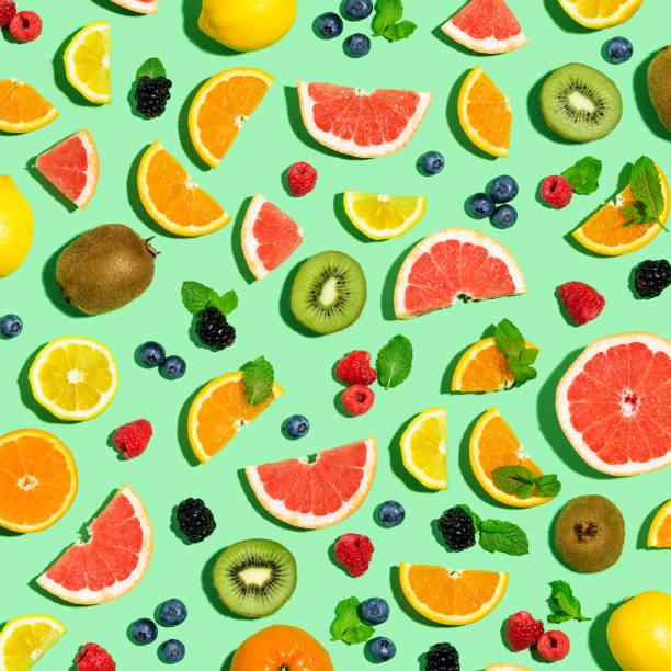 Sammlung von gemischten Früchten – Foto