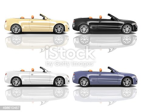 483959606 istock photo Collection of Multicolored 3D Modern Cars 498610457