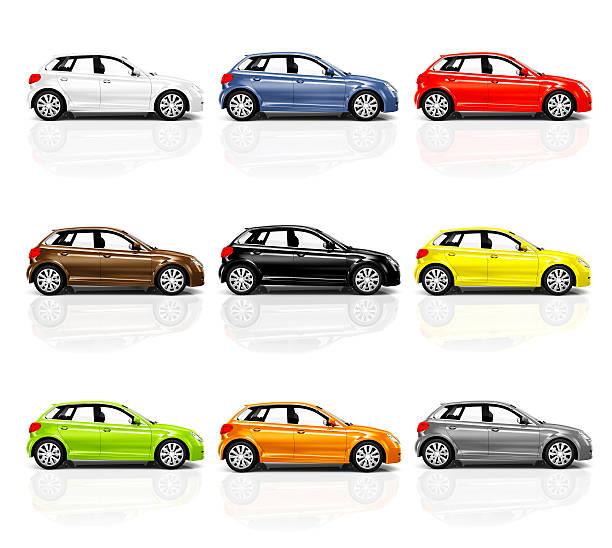 collezione di auto d'informazione 3d moderno - auto a combustibile alternativo foto e immagini stock