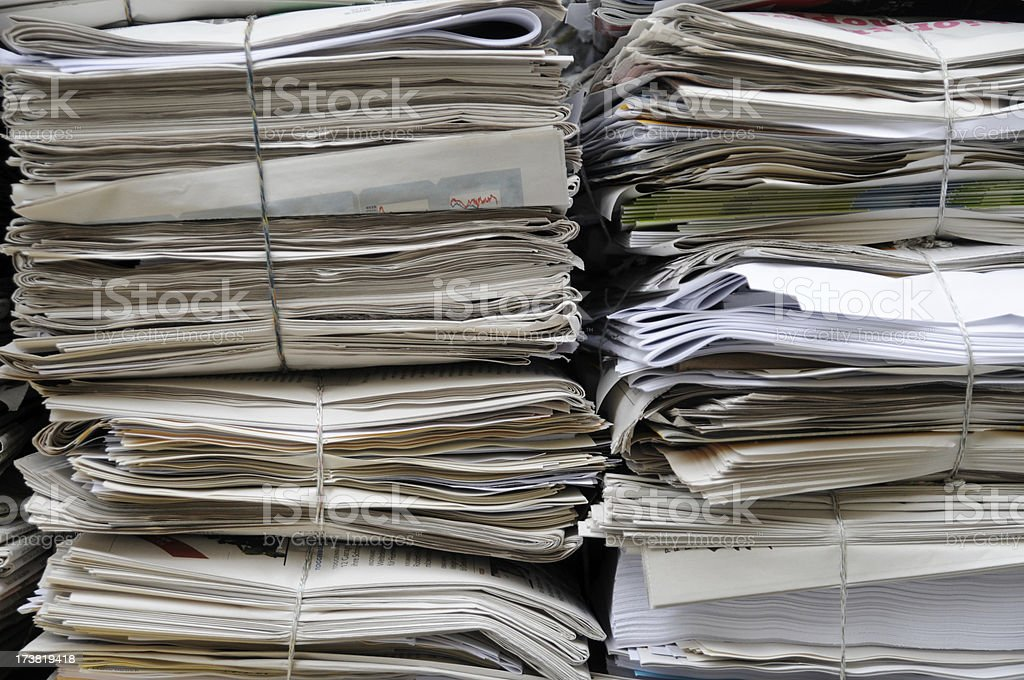 collection of old newspaper royalty-free stock photo