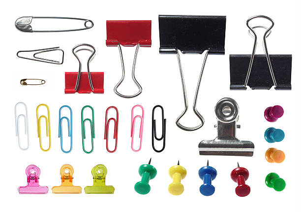 collection of paper clip stock photo