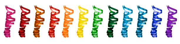 Collection of Party Streamers stock photo