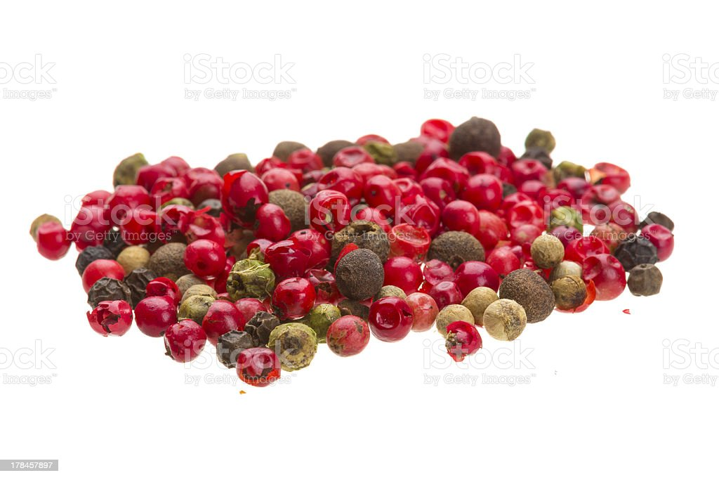 Collection of Pepper seeds royalty-free stock photo