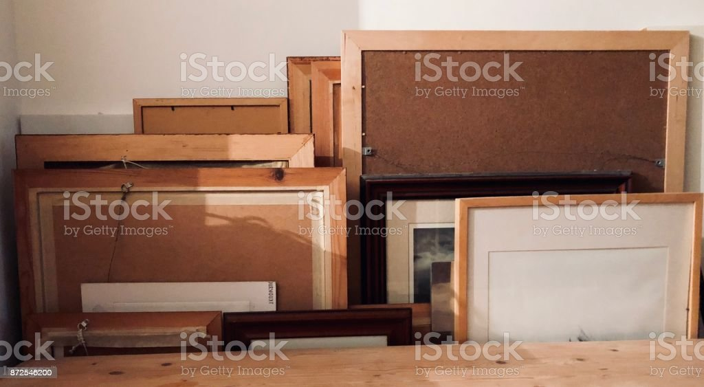 Collection of Picture Frames stock photo