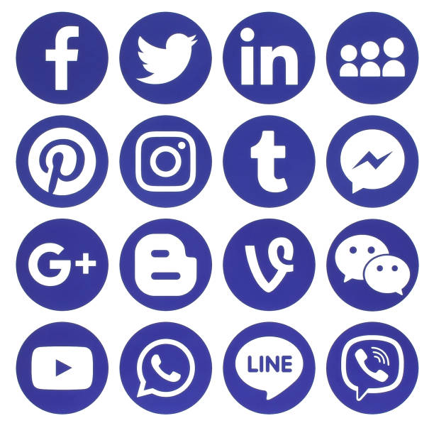 Collection of popular blue round social media icons picture id657524224?b=1&k=6&m=657524224&s=612x612&w=0&h=ly acf xhmyvgpfp vg95a yhgwkkbgm6w y1hvqc a=