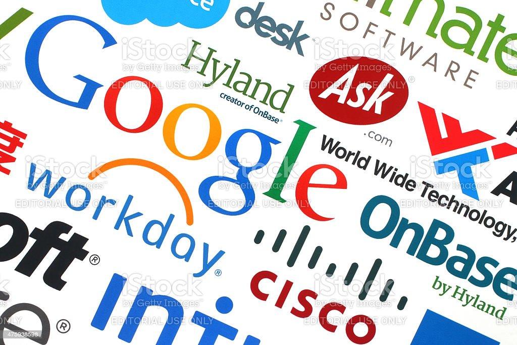 コレクションの人気インターネット企業の紙に印刷 ストックフォト