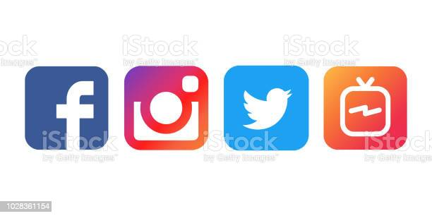 Collection of popular social media logos printed on white paper picture id1028361154?b=1&k=6&m=1028361154&s=612x612&h=vqfvvtgilydjqxl75oumrpu0scgqrbrokxckf m 2j4=