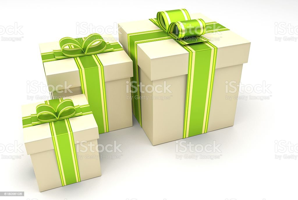 collection of presents stock photo