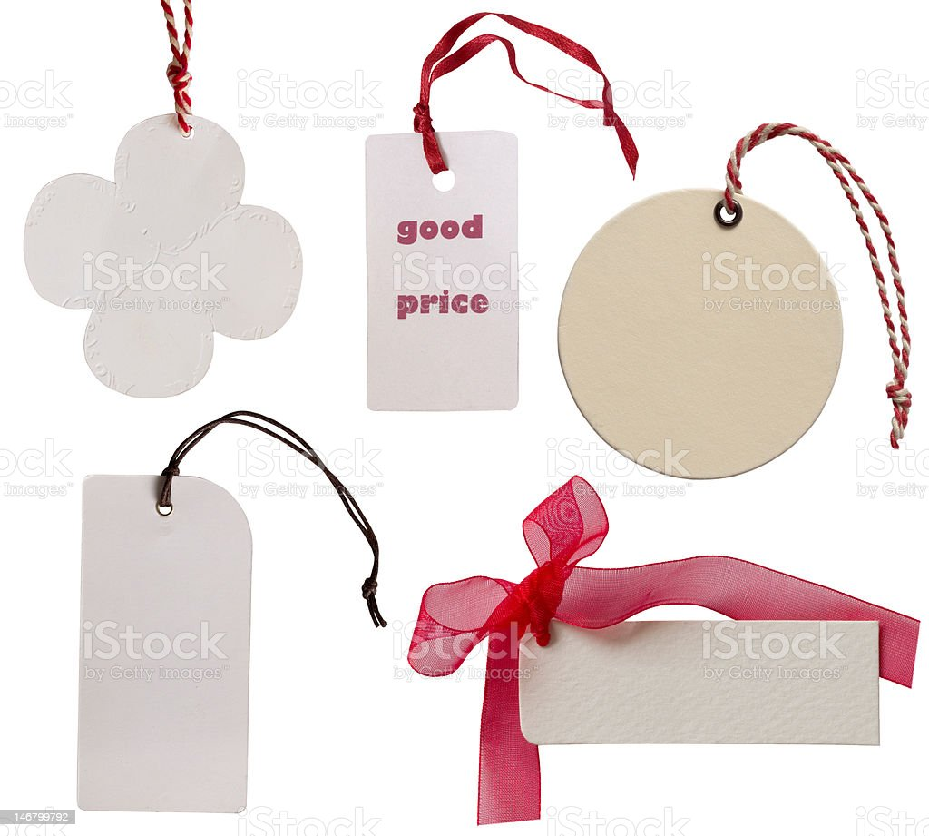 collection of price tags royalty-free stock photo