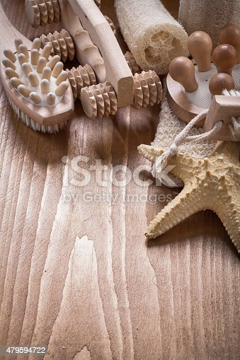 Collection Of Relaxing Items On Pine Vintage Wooden Board Sauna stock photo    iStock